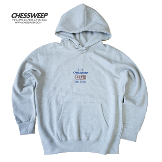 CHESSWEEP OVER-FIT JIU-JITSU HOODIE GRAY